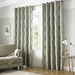 Ashley Wilde - Duck Egg 'Simone' Eyelet Heading Curtains
