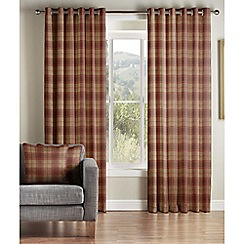 Montgomery - Sienna 'Brae' Lined Eyelet Curtains