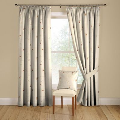 Zandia Spice lined curtains pencil heading
