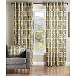 Montgomery - Mustard 'Uppsala' Lined Eyelet Curtains