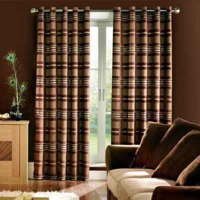 Samba lined curtains with eyelet heading