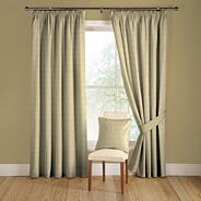 Natural 'Tokyo' lined curtains with pencil heading