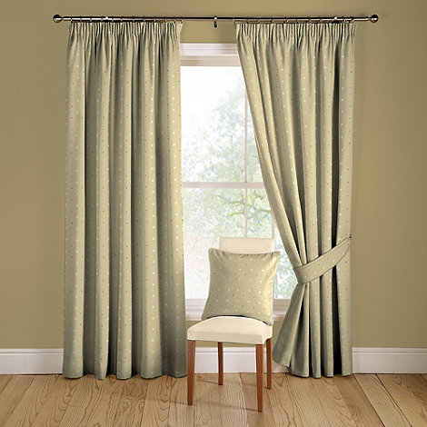 Montgomery - Natural +Tokyo+ lined curtains with pencil heading