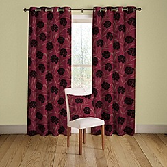Montgomery - Ruby 'Cappella' lined curtains with eyelet heading