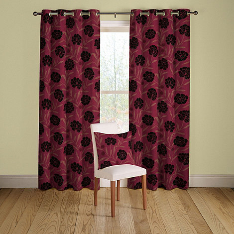 Montgomery - Ruby +Cappella+ lined curtains with eyelet heading