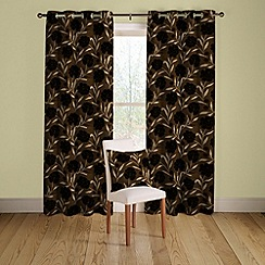 Montgomery - Chocolate 'Cappella' lined curtains with eyelet heading