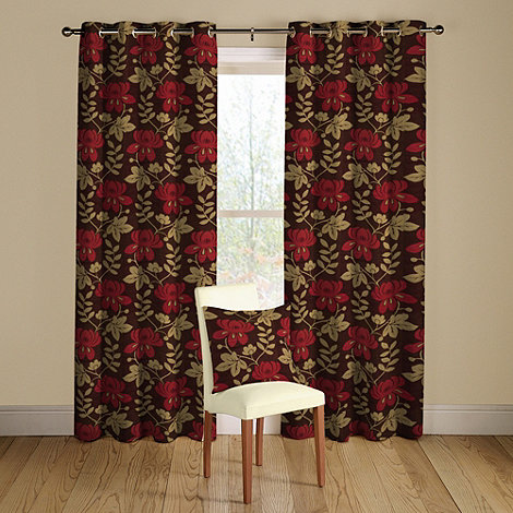 Montgomery - Ruby +Mimosa+ lined curtains with eyelet heading