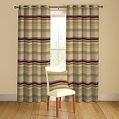 Montgomery - Red 'Loretta' lined curtains with eyelet heading