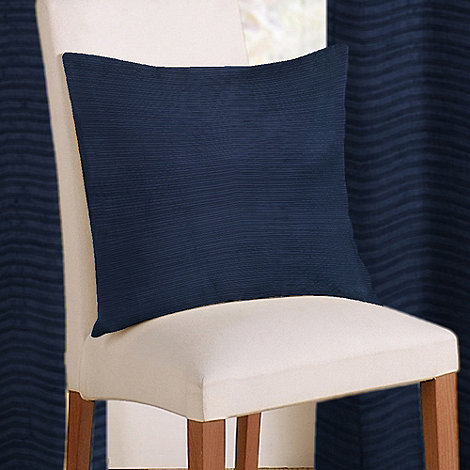 Montgomery - Navy 'Rib Plain' cushion cover