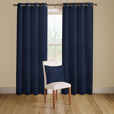 Navy Blue Lined Eyelet Curtains - Best Curtains 2017