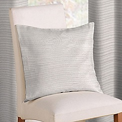 Montgomery - White 'Rib Plain' cushion cover