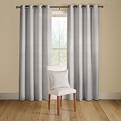 Montgomery - White 'Rib Plain' lined curtains with eyelet heading