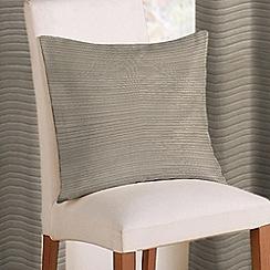 Montgomery - Pewter 'Rib Plain' cushion cover