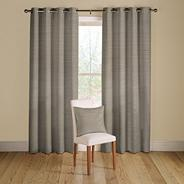 Pewter 'Rib Plain' lined curtains with eyelet heading