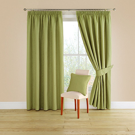 Montgomery - Lime +Orleans+ lined curtains with pencil heading