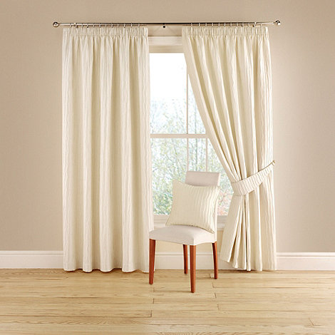 Montgomery - Natural +Orleans+ lined curtains with pencil heading