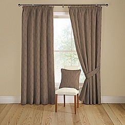 Montgomery - Grey 'Orleans' lined curtains with pencil heading