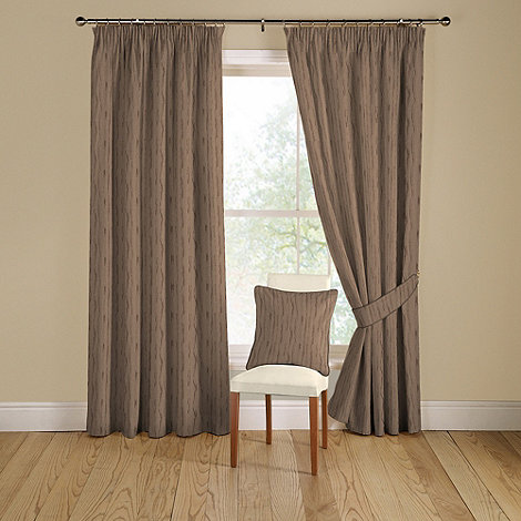 Montgomery - Grey +Orleans+ lined curtains with pencil heading