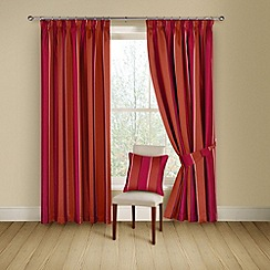 Montgomery - Chilli 'Porter' lined curtains with pencil heading