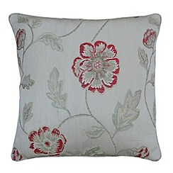 Montgomery - Red 'Poppy Trail' cushion cover