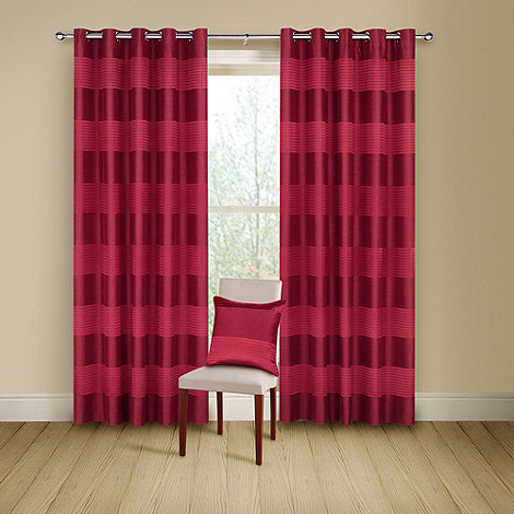 Montgomery - Red +Arianna+ lined curtains with eyelet heading