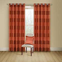 Montgomery - Terracotta 'Arianna' lined curtains with eyelet heading