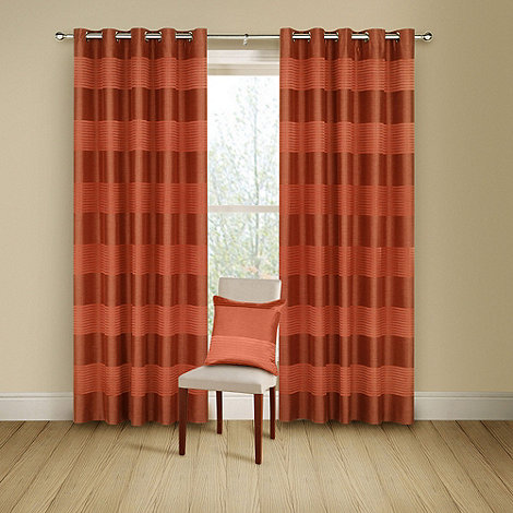 Montgomery - Terracotta +Arianna+ lined curtains with eyelet heading