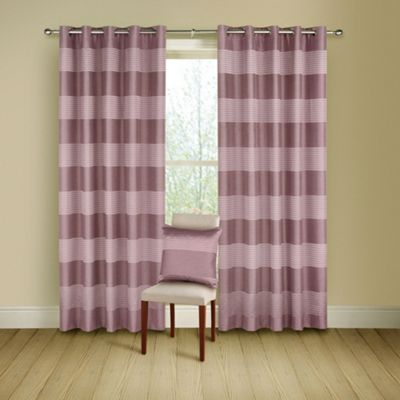 Montgomery Heather Arianna lined curtains with eyelet