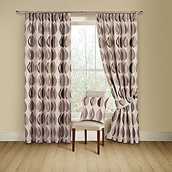 Montgomery - Cassis 'Kyra' lined curtains with pencil heading