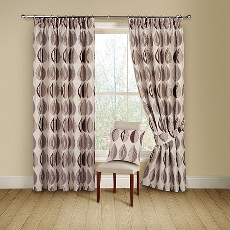 Montgomery - Cassis +Kyra+ lined curtains with pencil heading