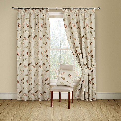 Montgomery - Terracotta 'Leonie' lined curtains with pencil heading