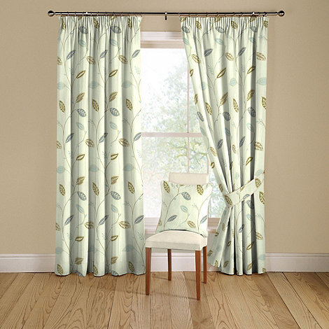 Montgomery - Duck egg +Leonie+ lined curtains with pencil heading