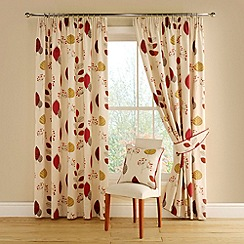 Montgomery - Terracotta 'Cleo' lined curtains with pencil heading