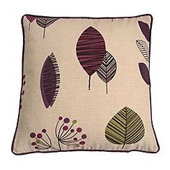 Montgomery - Aubergine 'Cleo' cushion cover