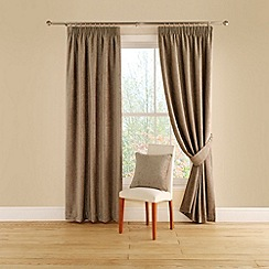Montgomery - Taupe 'Vogue' lined curtains with pencil heading