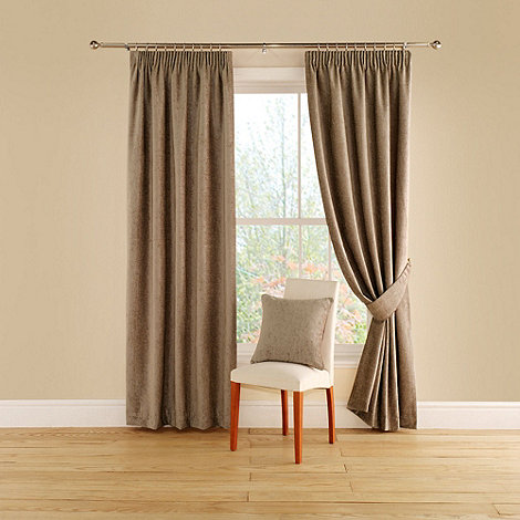 Montgomery - Taupe +Vogue+ lined curtains with pencil heading