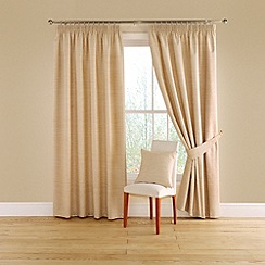 Montgomery - Natural 'Totem' lined curtains with pencil heading