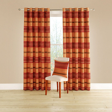 Montgomery - Terracotta +Spectrum+ lined curtains with eyelet heading