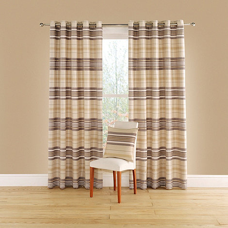 Montgomery - Natural +Spectrum+ lined curtains with eyelet heading