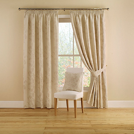 Montgomery - Natural +Willow+ Lined Curtains With Pencil Heading
