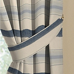 Montgomery - China Blue 'Vintage Stripe' pair of curtain tiebacks