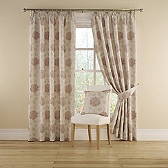 Montgomery - Rose 'Myra' Lined Curtains With Pencil Heading