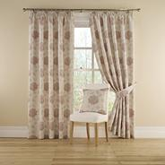 Rose 'Myra' Lined Curtains With Pencil Heading