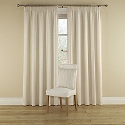Montgomery - Natural 'Orbit' Lined Curtains With Pencil Heading