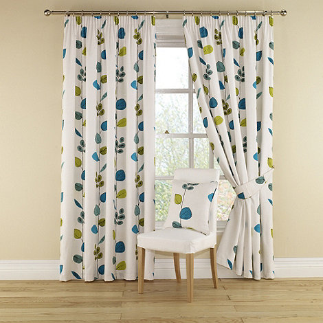 Montgomery - Aquamarine +Icarus+ Lined Curtains With Pencil Heading