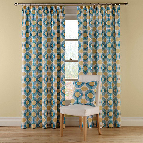 Montgomery - Petrol +Olympic+ Fully Lined Curtains With Pencil Heading