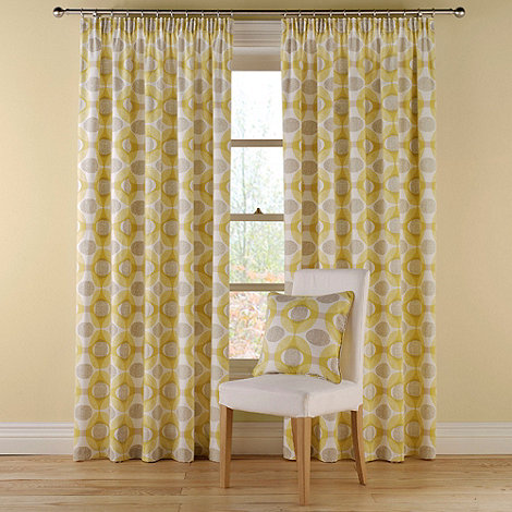 Montgomery - Mustard +Olympic+ fully lined curtains with pencil heading
