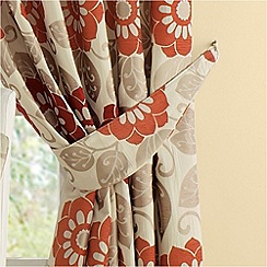 Montgomery - Red 'Annoushka' curtain tiebacks