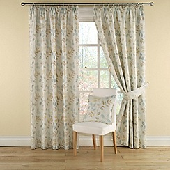 Montgomery - Duck egg 'Clover' lined curtains with pencil heading