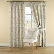 Duck egg 'Clover' lined curtains with pencil heading